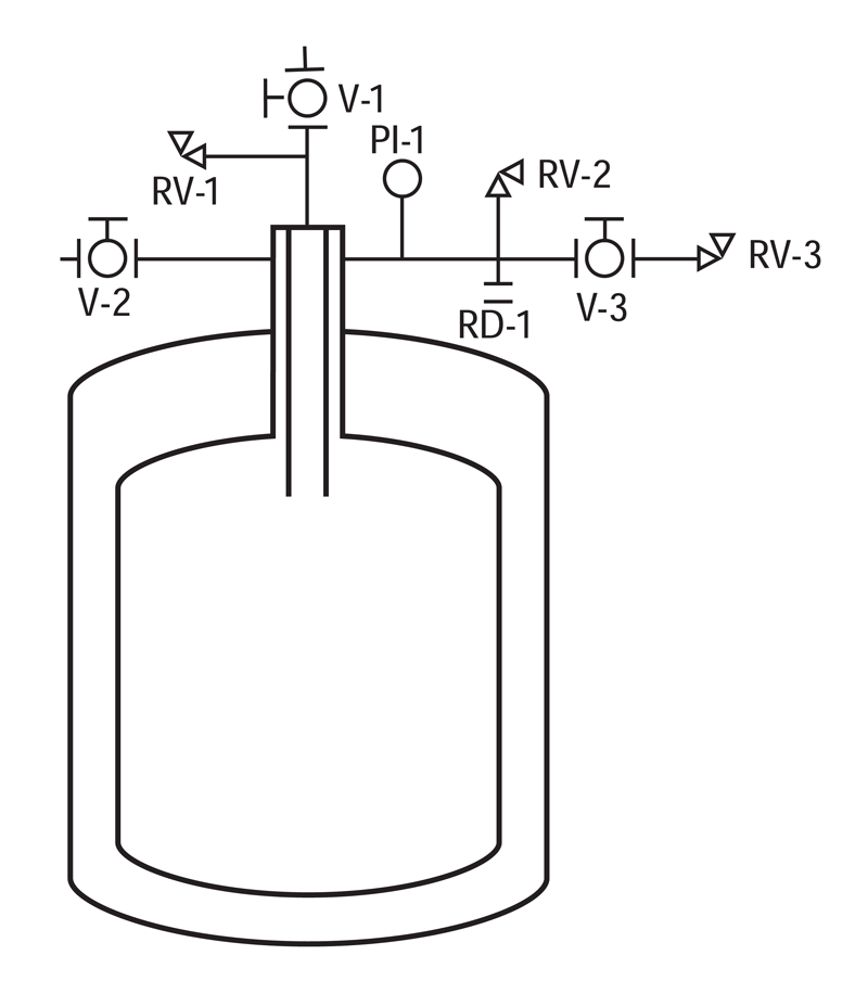 liquid helium dewar piping schematic Cryofab CMSH Series