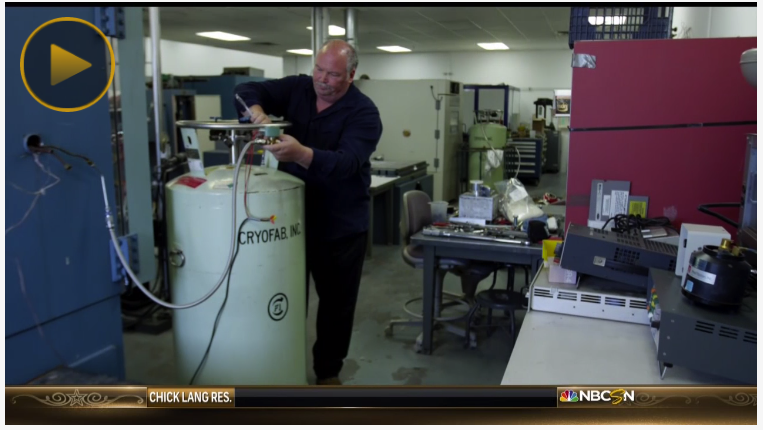 Cryofab cryogenic tank on NBC Sports